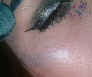 eye makeup, fairy, and flower fairy image