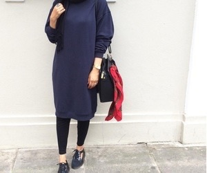 hijab, girl, and hijab fashion image