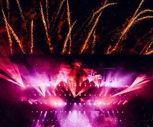 dj, fireworks, and lights image