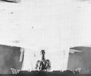 black and white, boy, and dj image