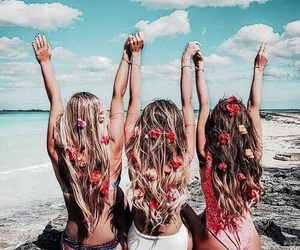 beach, holiday, and girls image