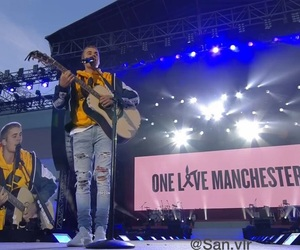 justin bieber, ariana grande, and manchester image