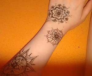 drawing, hennatattoo, and festival image