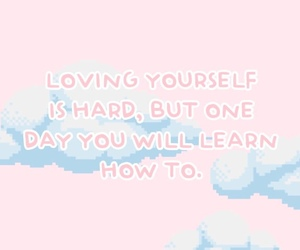 pink, soft, and love yourself image