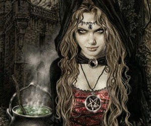 witch, gothic, and dark image