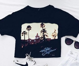 t-shirt, hotel california, and fashion image