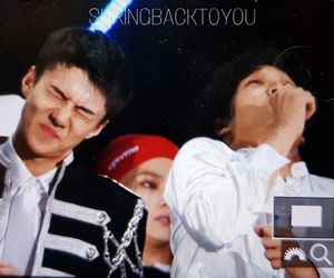 black hair, exo, and otp image