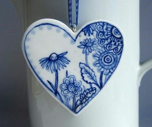 blue, flowers, and ازرق image