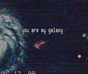 ali, galaxy, and I Love You image
