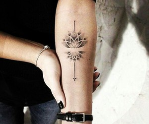 arm tattoo, inked, and ink image