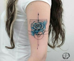 blue, ink, and rose image