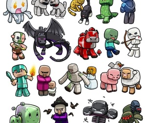 minecraft and mobs image