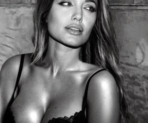 actress, Angelina Jolie, and b&w image