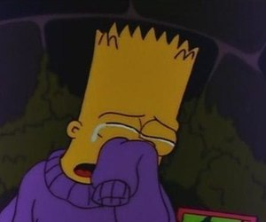 sad, simpsons, and bart image