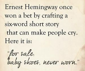 baby, cry, and hemingway image