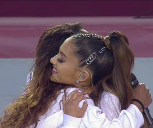 ariana grande, victoria monet, and one love manchester image