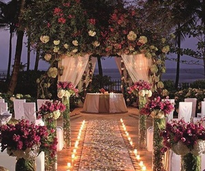 wedding, flowers, and candles image