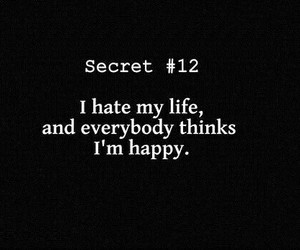 life, sad, and hate image