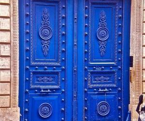 blue, doors, and ازرق image