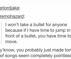 bullet, funny, and lol image