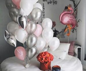 balloons, white, and birthday image