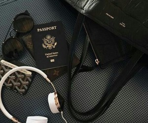 travel, black, and passport image