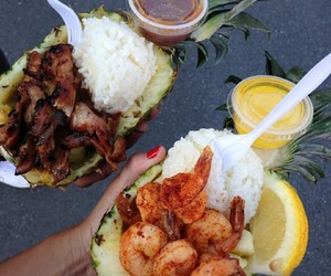 food, pineapple, and shrimp image