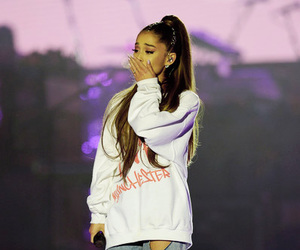 ariana grande, one love manchester, and dangerous woman image