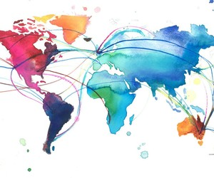 world, art, and colorful image