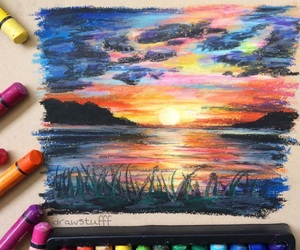 art, oil pastels, and oil pastel art image