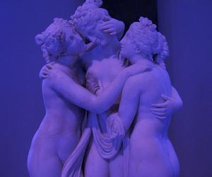 purple, grunge, and statue image
