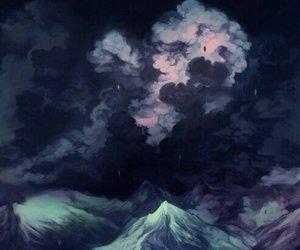art, night, and sky image
