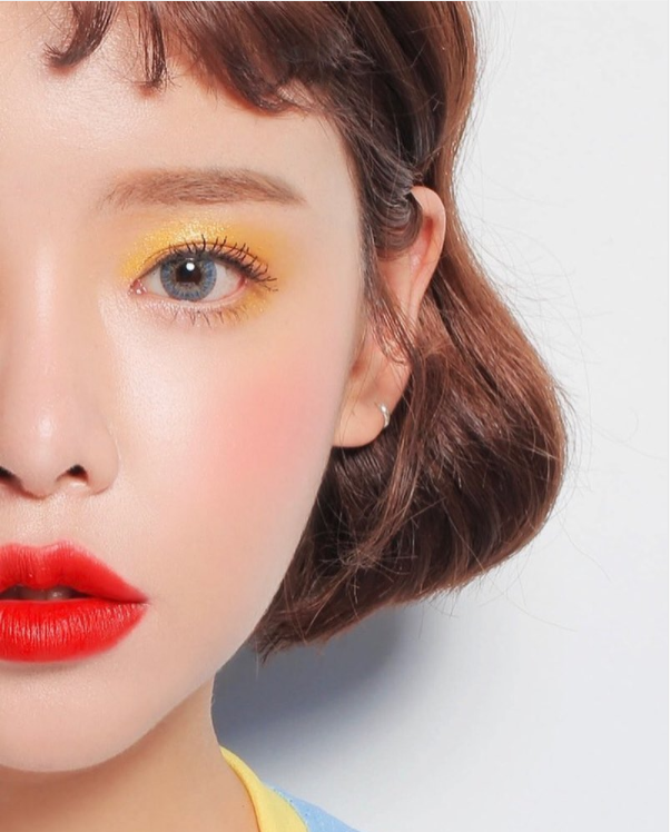 makeup, orange, and stylenanda image