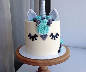 blue, cake, and cakes image