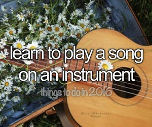 guitar, instrument, and bucket list image