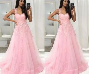 pink, prom dress, and sweetheart image
