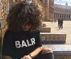 girl, curly hair, and curly image