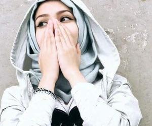 girl, hands, and hijab image