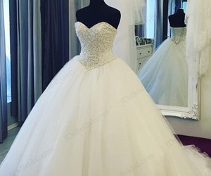 ball gown, beading, and cinderella image
