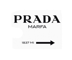 Prada, white, and black image