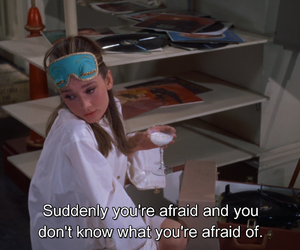 aesthetic, Breakfast at Tiffanys, and afraid image