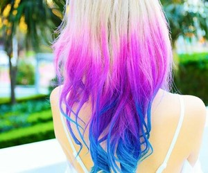 hair, colorful hair, and pink image