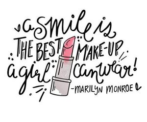 smile, quotes, and makeup image