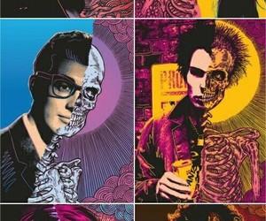 skull, kurt cobain, and rock image
