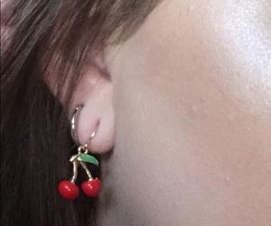 cherry, earrings, and glow image