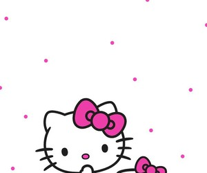 background, black, and hello kitty image
