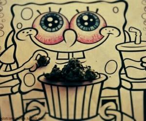 weed, spongebob, and bob esponja image
