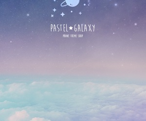 galaxy, pastel, and sky image