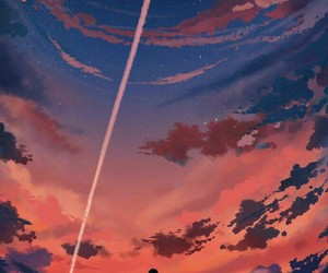 alone, sky, and art image
