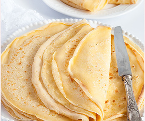 food, breakfast, and crepes image